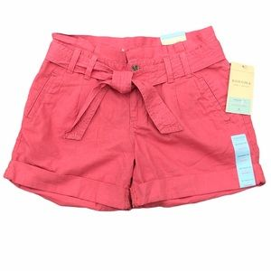 Sonoma Life + Style Modern Fit Belted Shorts NEW 6